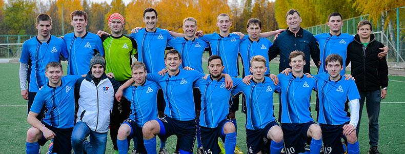 Команда «Нижнекамскнефтехим» — победитель 1 лиги Первенства РТ по футболу