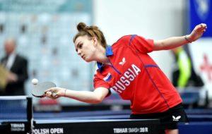 Дарья Шадрина приняла участие в международном молодёжном турнире по настольному теннису