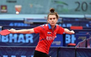 Дарья Шадрина выступает на Открытом чемпионате Польши по настольному теннису