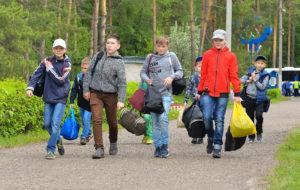 Нам погода нипочём: лагерь «Олимпиец» принял первую смену детей